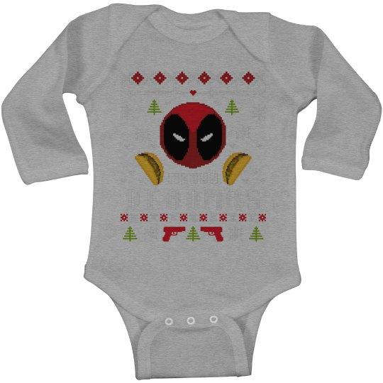 Deadpool Ugly Sweater Onesie