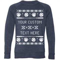 Design a Baseball Themed Ugly Sweater