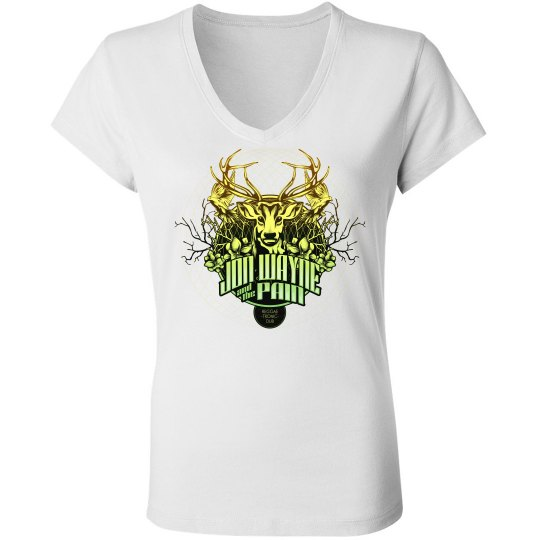 Deer Jon Lady Tee White