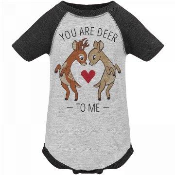 Deer To Me Valentine's Onesie