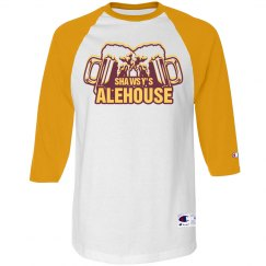 Old School Baseball T (White/Yellow)