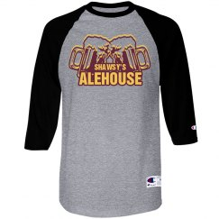 Old School Baseball T (Gray/Black)