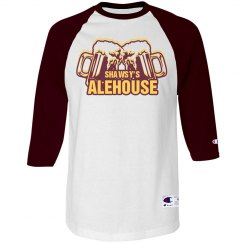 Old School Baseball T (White/Maroon)