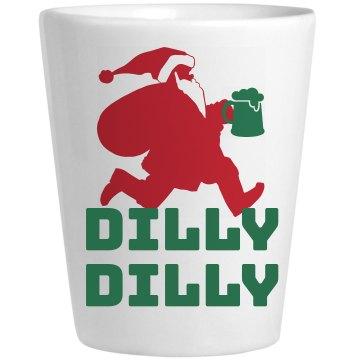 Dilly Dilly Running Santa