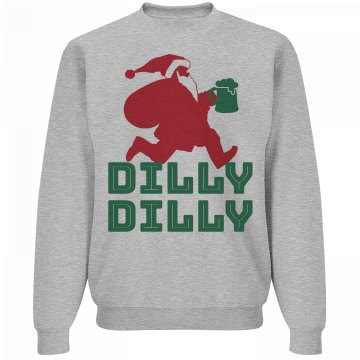 Dilly Dilly Santa Beer Xmas Sweater
