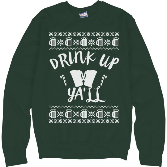 Drink Up Ugly Sweater