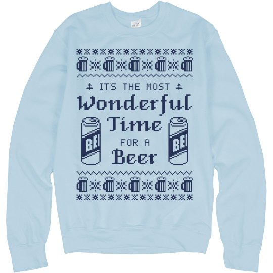 Drinking Sweater Wonderful Beer