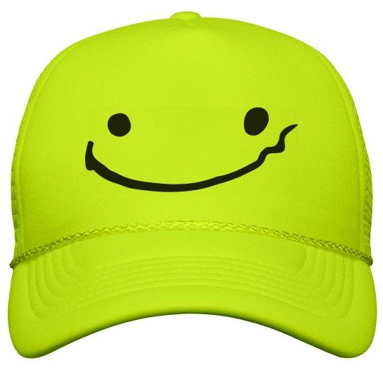 Drunk Face Neon Hat