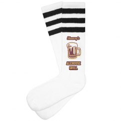 Unisex Retro Stripe Socks (Black)