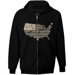 USA Mens Flag Sweatshirt