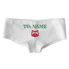 Custom Name Christmas Undies