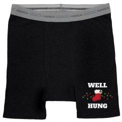 Well Hung Christmas Boxers