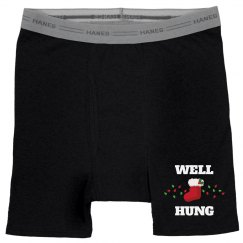 Well Hung Christmas Boxers