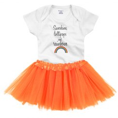 Sunshine, lollipops and rainbows - infant tutu dress