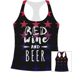 Red Wine & Beer Star Pattern