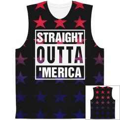 Straight Outta 'Merica Star Pattern