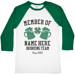 Custom Drinking Team Raglan