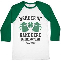 Custom Drinking Team Raglan