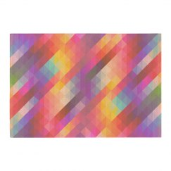 Dreamy Geometric Rainbow Home Decor