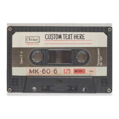 Retro Cassette Tape Custom Text