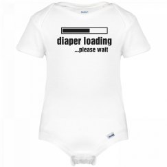 Diaper Loading Onesie