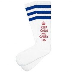 Keep Calm Carry On Feet