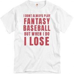 I Lost Fantasy Baseball