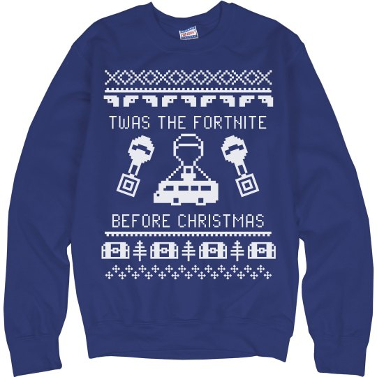 4e793dc0 Twas the Fortnite before Christmas Unisex Ultimate Cotton Crewneck  Sweatshirt