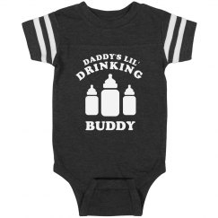 Daddy's Lil' Drinking Buddy Onesie