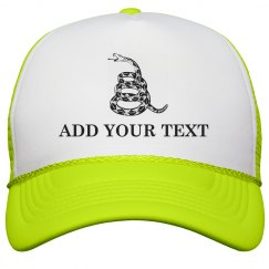Custom Gadsden Don't Tread On Me Yellow Cap