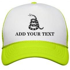 Custom Gadsden Don't Tread On Me Yellow Cap