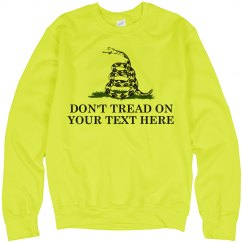 Don't Tread on Your Text Here