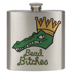 Mardi Gras/Alligato Flask