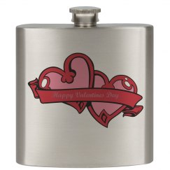 Happy Valentine's Day Flask