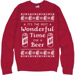 Time For Beer Xmas Ugly Sweater