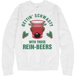Rein-Beer Reindeer Drinking Sweater