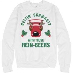 Rein-Beer Reindeer Drinking Sweater