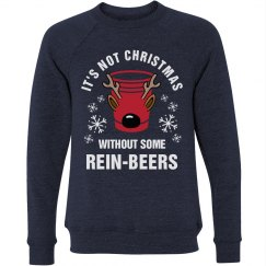 Christmas Beer Pun Drinking Sweater