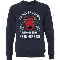 Christmas Beer Pun Drinking Sweater