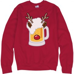 Funny Christmas Rein-Beer Sweater