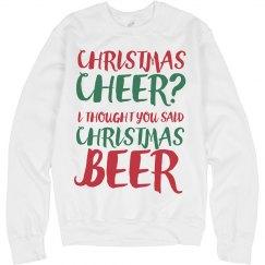Christmas Beer & Christmas Cheer