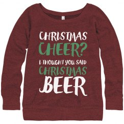 Christmas Beer Drinking Sweater