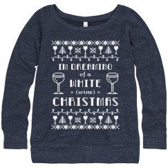 Classy White Wine Christmas Sweater