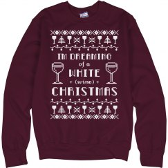 White Wine Christmas Sweater