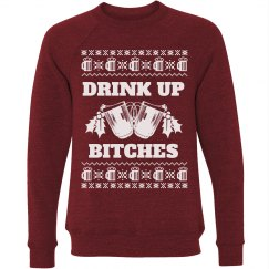 Drink Up Bitches Ugly Xmas Sweater