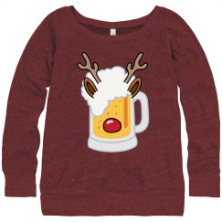 Funny Rein-Beer Christmas Sweater