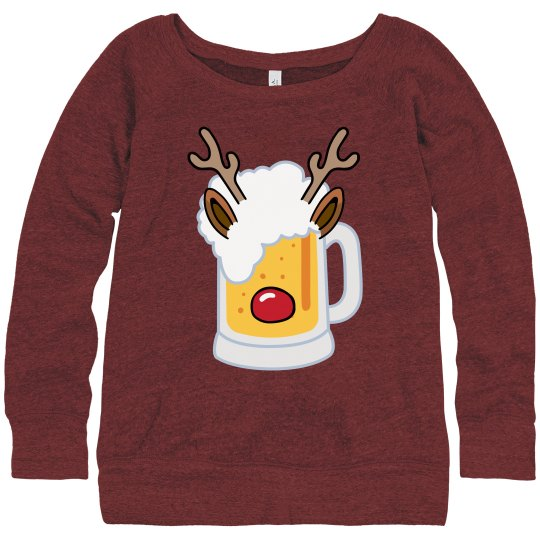 Beer Christmas Sweater.Funny Rein Beer Christmas Sweater