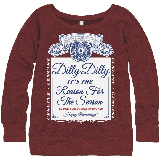 dilly dilly ladies ugly sweater