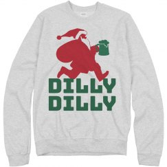 Dilly Dilly Santa Beer Xmas Sweater
