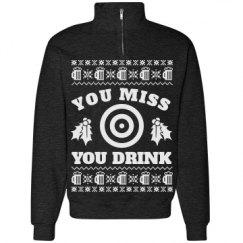 Unisex Cadet Collar Sweatshirt